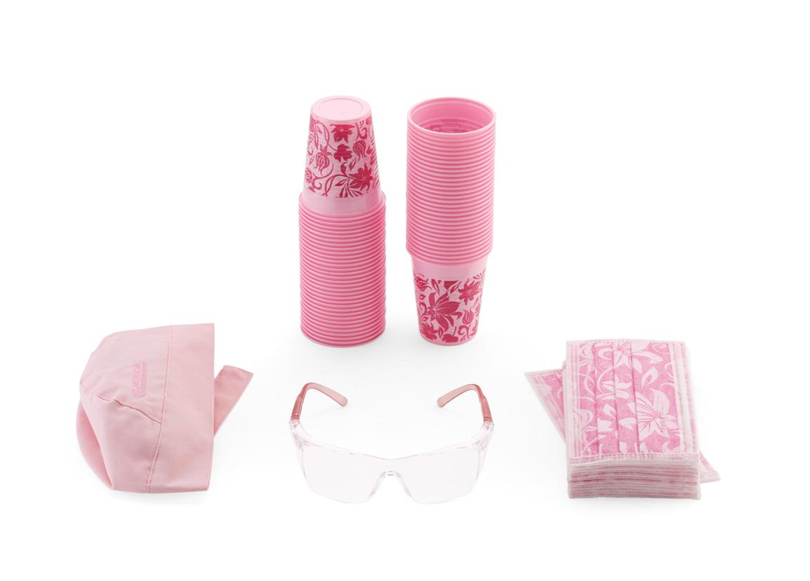 kit floreale rosa