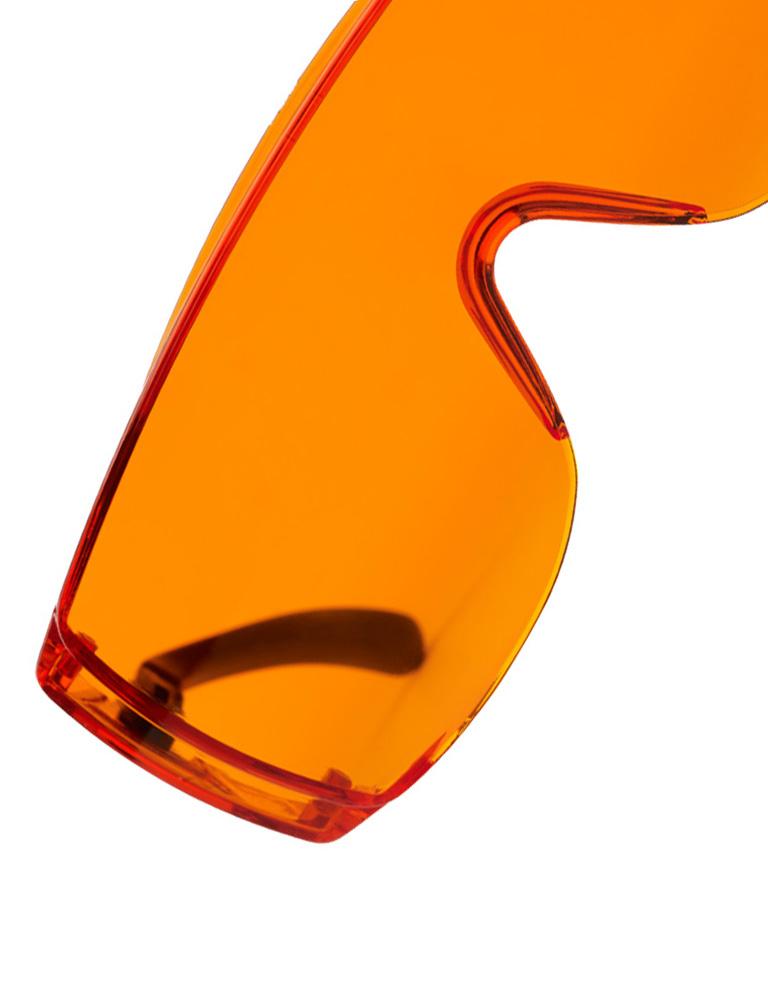 occhiali protettivi arancioni