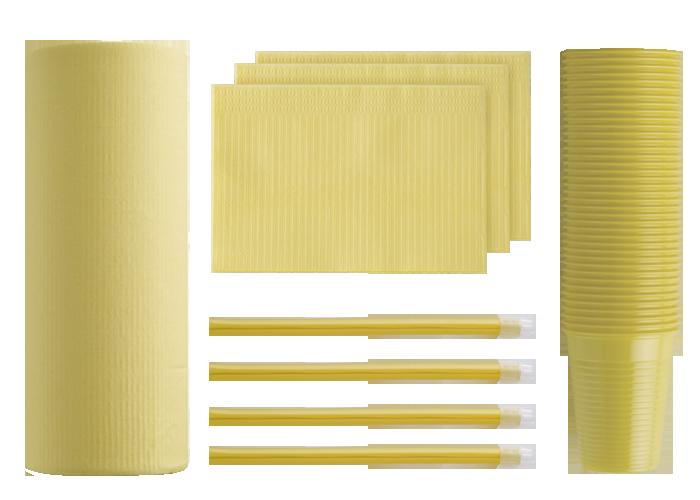 prodotti monouso gialli