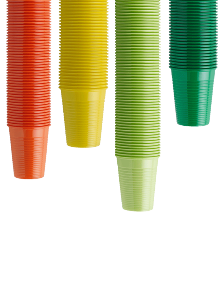 Plastic Cups Coloured