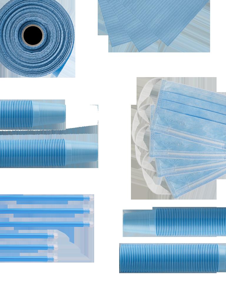 monouso azzurro